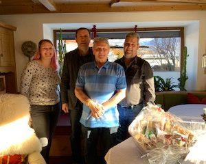 Gratulation unserem Ehrenmitglied Roth Erich zum 70. Geburtstag